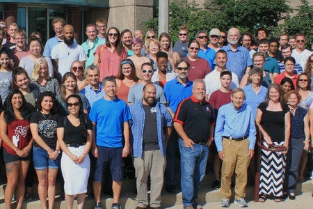 Group photo of faculty, staff, and students in Biology.