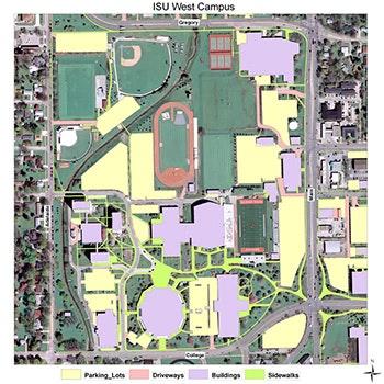 ISU West Campus Overhead Shot