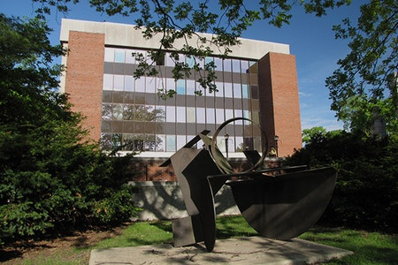 Degarmo hall on the quad in the summer.