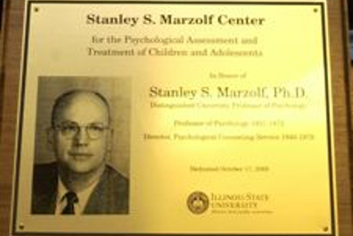 Stanley S. Marzolf Center Plaque